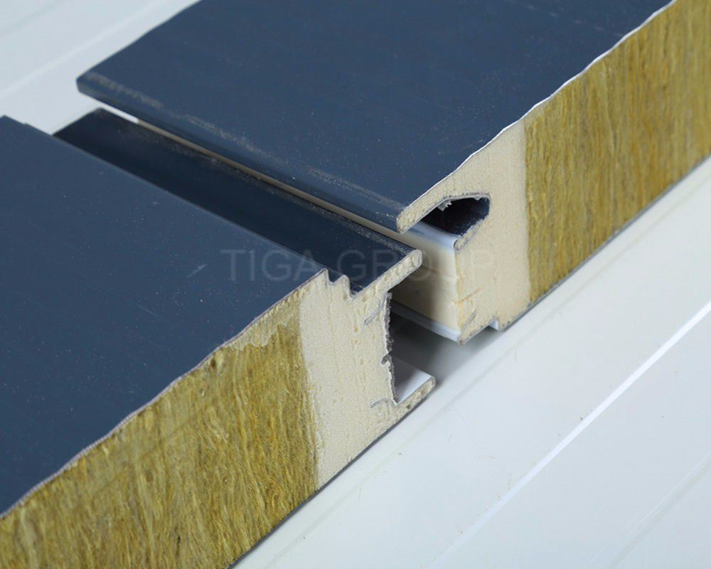 Colorful Corrugated Rock Wool Sandwich Panel for Wall