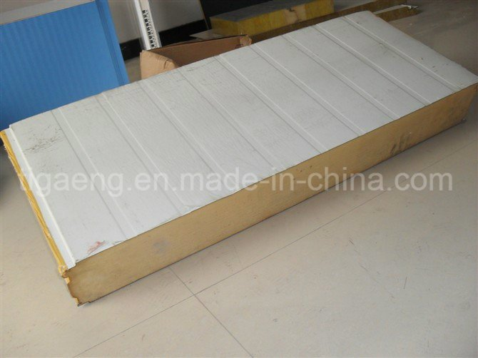 Fireproof Steel Wall Panel/Color Coated Rock Wool Sandwich Panel