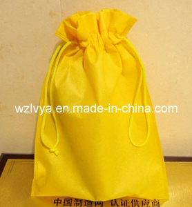 Non Woven Drawstring Bag Yellow Color (LYD15)