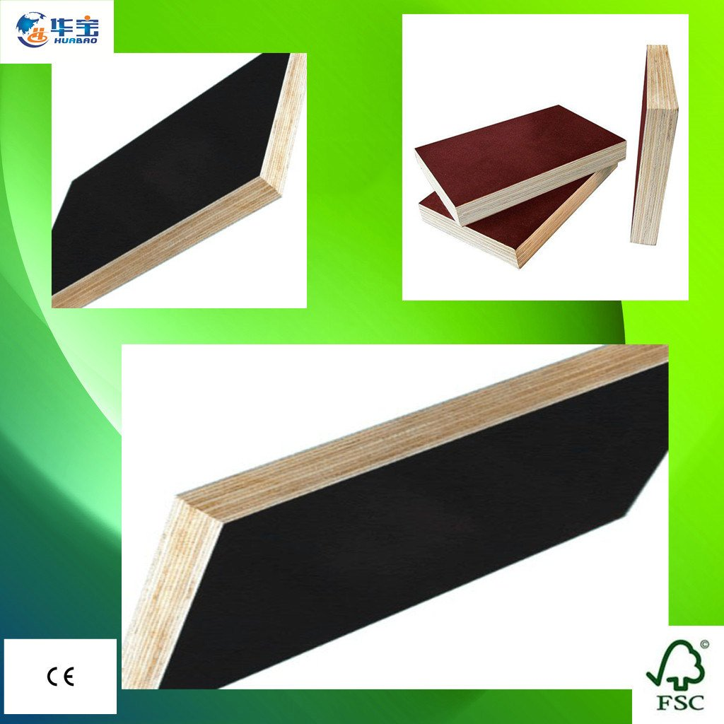 Poplar Core Marine/Shuttering Film Faced Plywood 1220*2440mm for Construction