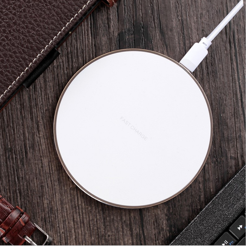 Fast Wireless Charger With Led Light for IPhone Mobile Wireless Charger with LED Flashing Light for IPhone And Samsung