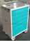 5 drawers metal medical cart
