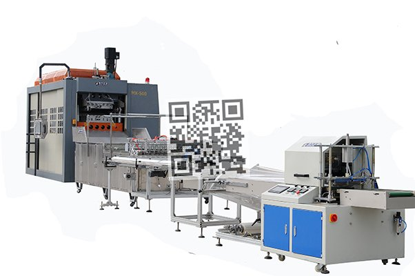 MX13G full servo motor thermoforming packing machine in-line