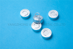 28mm Aluminum tear off cap with aluminum liner