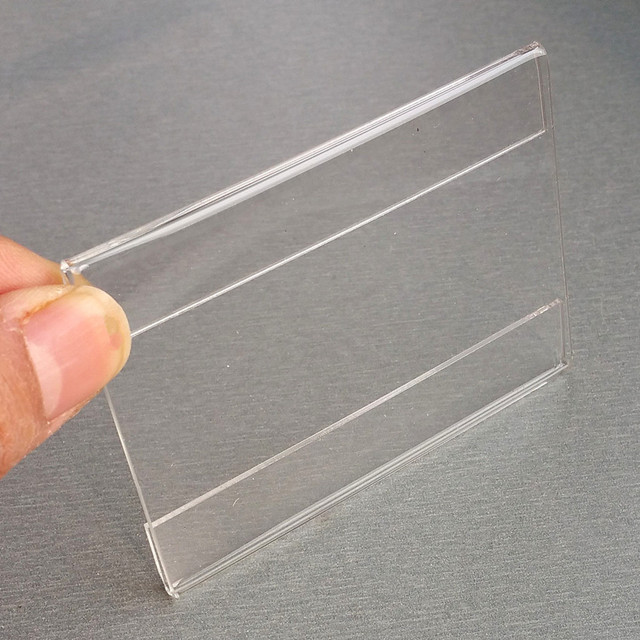 acrylic t12mm plastic sign price tag label paper promotion name card display holders by