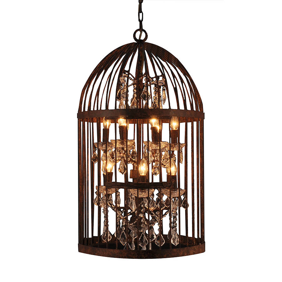 retro candle lighting iron art birdcage crystal. Black Bedroom Furniture Sets. Home Design Ideas