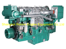 350HP 1200RPM Yuchai marine propulsion diesel boat main engine (YC6T350C)