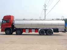 Dongfeng Tianlong 30cbm insulated milk truck Stainless Steel tanker Euro 4