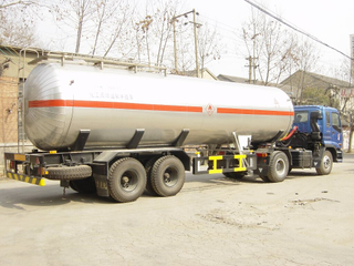 Two axis Cryogenic Liquid Tanker Trailer (LO2 LAr LN2 LCO2)