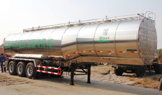 stainless steel round milk tankers trailer
