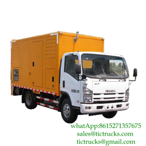 ISUZU 200kW 50hz 3 phase 220V generator power truck Euro 4 ,5