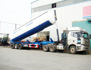 DTA Dry Bulk Tank Semi-Trailer with FAW J6 tractor
