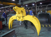 Komatsu PC200 Rotate Timber grab