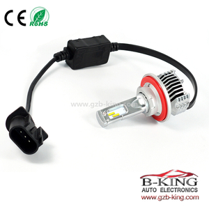 Smallest P12 45W 6500lm universal H13 H/L car led headlight with built-in fan( 100% suitable for all cars)