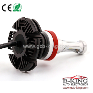 Fanless 6000lm 7S H11 ZES Chip Car LED Headlight Bulb 3000K 6500K 8000K