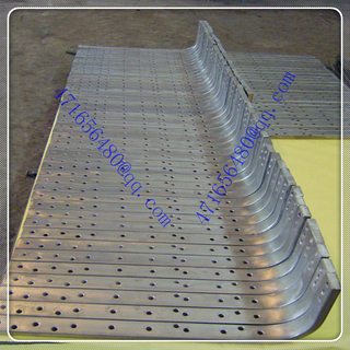 high quality 316L stainless steel clad copper hole bar with bending ends for caustic soda electrolysis