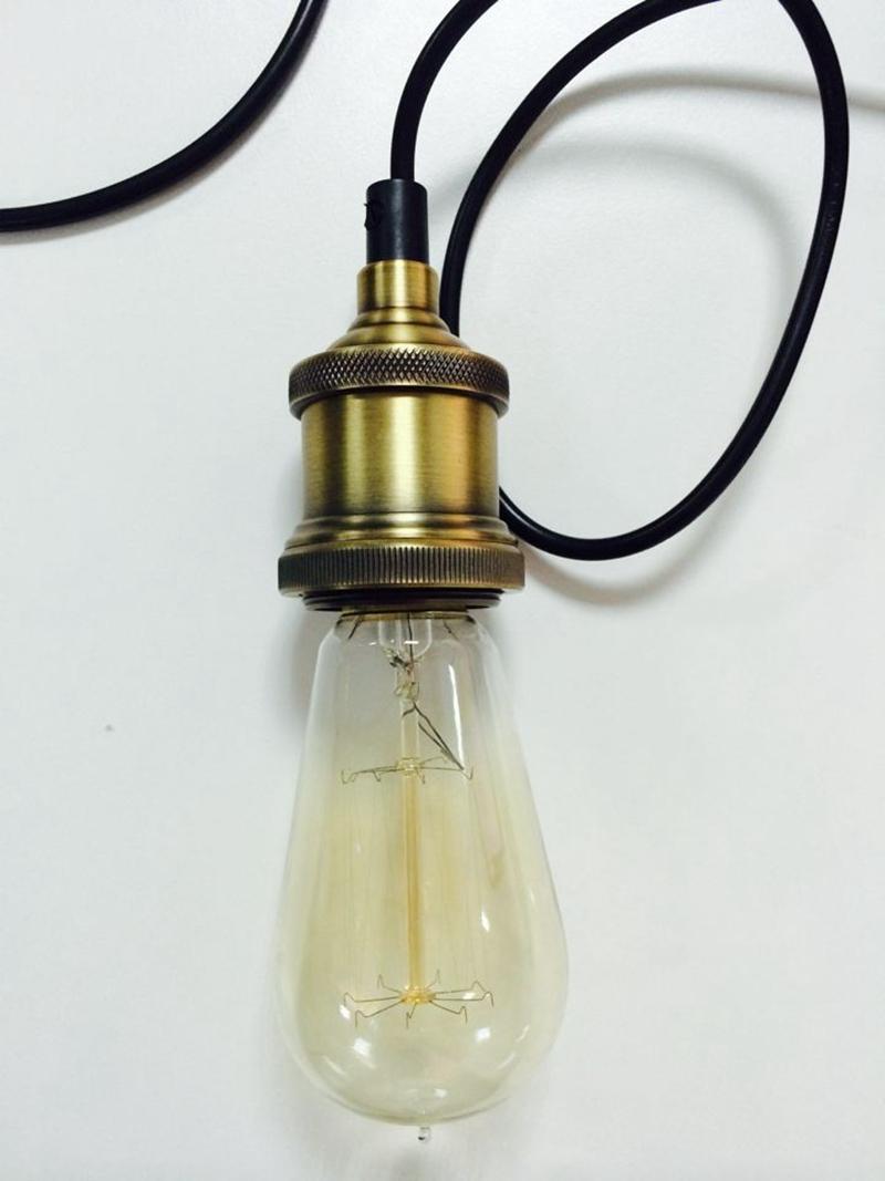 pendant lighting edison. Industrial Loft Edison Glass Bulb Pendant Lamp Socket Aluminum Holder Lighting G