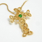 Gold Tone Cross Pendant