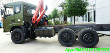 SHACMAN 6x6 Military Truck off road truck Crane Palfinger