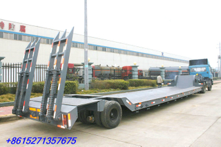 One line tow axles Lowboy trailer