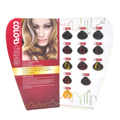 12 Colors Tazol House Use Hair Color Chart
