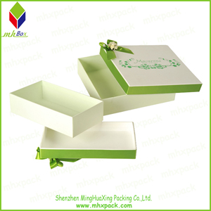 Lid and Base Packaging Paper Gift Box with a Lip
