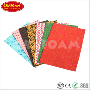 Color printed EVA foam sheet
