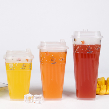 Disposable Plastic Cups for Iced Coffee Tea Water Sodas Juices