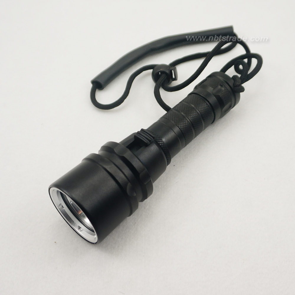 Waterproof IPX8 Aluminium Casing High Power XML-L2 LED Flashlight for Diving
