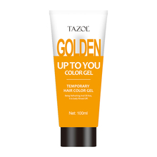 Tazol Temporary Hair Color Gel with Gold Color 100g