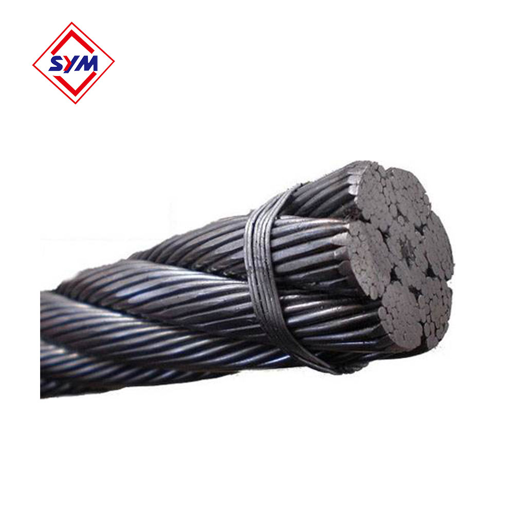Yongmao Tower Crane Spare Parts Wire Rope 35W*7 10mm Hot Sale