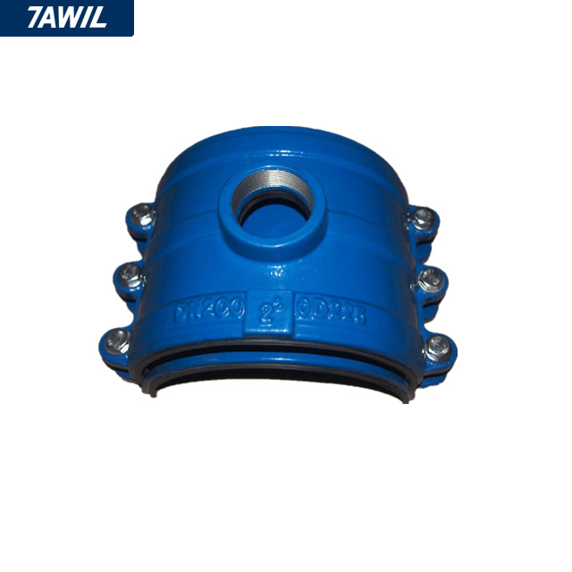 Ductile Cast Iron Metal Tapping Saddle Clamp for PVC HDPE