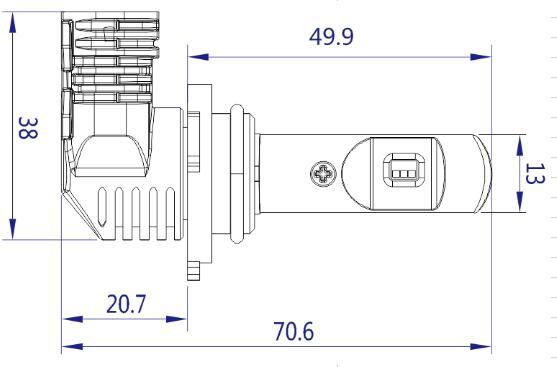 P10 9012 LED headlight