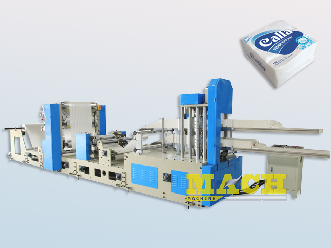 High Speed Double Lanes Automatic Paper Napkin Making Machine