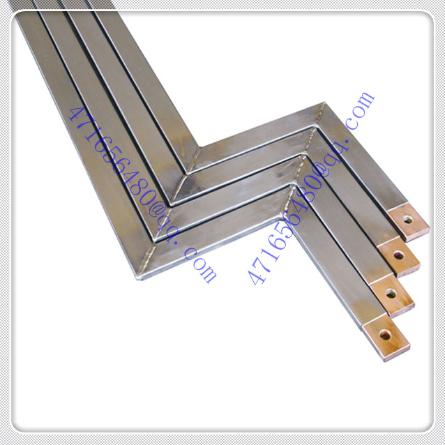 Titanium clad copper group weldment