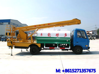 DTA Multi-fonction water tank truck with aerial platform height 14m