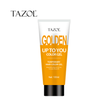 Tazol temporary hair color gel gold