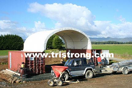 8m Wide Container Shelter, Canopy, Container Tent, Container Cover (TSU-2620C/2640C)