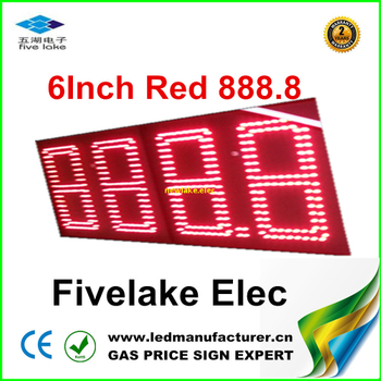 6inch LED GAS PRICE CHANGER SIGN