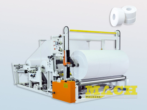 Large Size Jumbo Tissue Paper Roll Slitting and Rewinding Machine