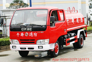 Dongfeng 4x2 4T water tanker with fire pump truck