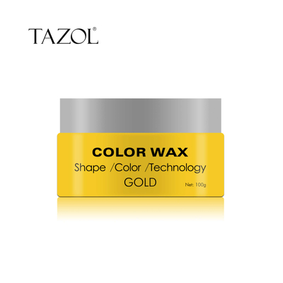 Tazol Temporary Hair Color Wax with Gold Color 100g