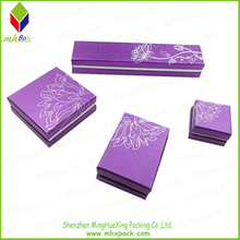 Elegant Purple paper Packaging Gift Jewelry Box