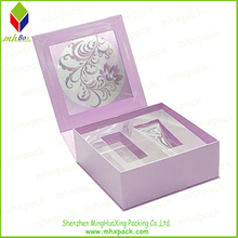 Cosmetic Storage Paper Box with Customized PVC