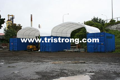Prefabricated Building, Container Cover, Tent, Container Canopy, Container Shelter (TSU-2020C/2040C)