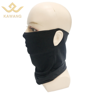 Breathable bandana face earloops protective neck gaiter scarf for outdoor sport plain scarves