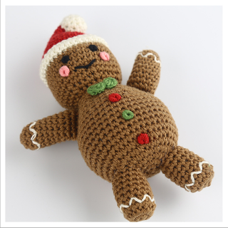 Hand Knitted Christmas gingerbread man