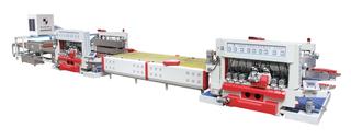 SZM玻璃、石材双边直线磨边机组(直线转向型)双边机+直线转换台+双边机+清洗机