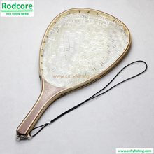 landing net with clear rubber netting
