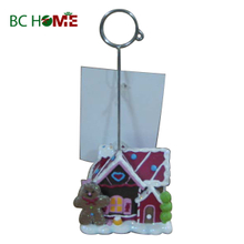 Family Christmas Ornaments Polyresin Business Card Holder